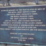 Arromanches-les-Bains, plaque The Royal Logistic Corps