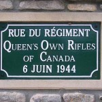 Anguerny, plaque rue du Queen's Own Rifles of Canada