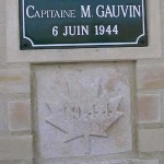 Anguerny, stèle Capitaine Gauvin
