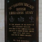 Bayeux, plaque 56th Infantry Brigade