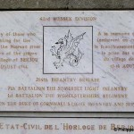 Berjou, plaque 43th Infantry Division