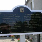 Carentan, plaque PC Lieutenant-Colonel Cole