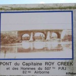 Chef-du-Pont, panneau Capitaine Roy Creek
