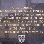 Cherbourg, plaque Seargent Finley