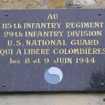 Colombières, plaque 115th Infantry Regiment