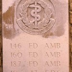 Fontenay-le-Pesnel, plaque 146th 160th 187th Field Ambulances 16th 17th Field Dressing Stations