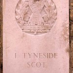 Fontenay-le-Pesnel, plaque 1st Battalion Tyneside Scottish