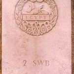 Fontenay-le-Pesnel, plaque 2nd Battalion South Wales Borderers