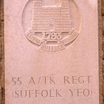 Fontenay-le-Pesnel, plaque 55th Anti Tank Regiment Suffolk Yeomanry