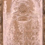 Fontenay-le-Pesnel, plaque 69th 74th 143th 185th Field Regiments