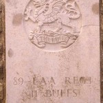Fontenay-le-Pesnel, plaque 89th Light Anti Aircraft Regiment The Buffs