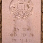 Fontenay-le-Pesnel, plaque 49th Ordnance Field Park 49th Mobile Laundry and Bath Unit