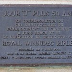 Graye-sur-Mer, plaque Royal Winnipeg Rifles