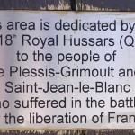Le Plessis-Grimoult, stèle 13th/18th Royal Hussars
