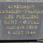 May-sur-Orne, plaque Fusiliers Mont Royal