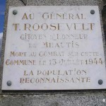 Méautis, plaque General Roosevelt