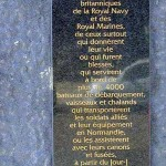 Ouistreham, stèle Royal Navy & Royal Marines