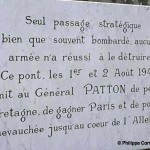 Pontaubault, plaque General Patton