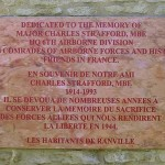 Ranville, monument Major Charles Strafford
