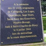 Saint-Charles-de-Percy, plaque victimes civiles