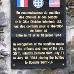 Saint-Lô, plaque 35th Infantry Division