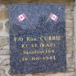 Tournai-sur-Dives, plaque Flying Officer Ron Currie