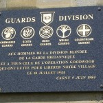 Cagny, plaque Guards Division