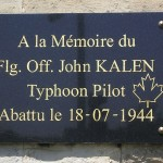 Cagny, plaque Flight Officer John Kalen