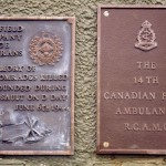 Courseulles-sur-Mer, plaque 5th Field Company RC & 14th Canadian Field Ambulance