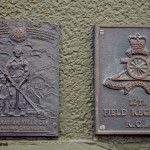 Courseulles-sur-Mer, plaque 6th Canadian Field Coy RCE & 12th Field Regiment RCA