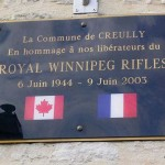 Creully, plaque Royal Winnipeg Rifles
