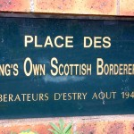 Estry, stèle King's Own Scottish Borderers