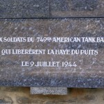 La Haye-du-Puits, plaque 749th Tank Battalion