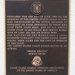 Sainte-Marie-du-Mont, Utah Beach plaque US Coast Guards