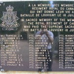 Louvigny, plaque The Royal Regiment of Canada