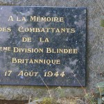 Notre-Dame-du-Rocher, monument 11th Armoured Division