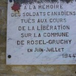 Rosel, plaque soldats canadiens