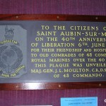 Saint-Aubin-sur-Mer, plaque 48 Royal Marine Commando