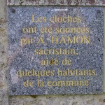 Saint-Côme-de-Fresné, plaque cloches du 6 juin 1944