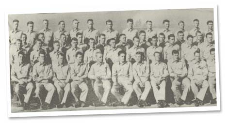 B Company, Nicholas (seated eighth from the left)