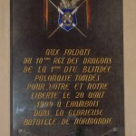 Chambois, plaque 1re DB polonaise