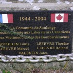 Soulangy, plaque libérateurs canadiens & victimes civiles