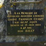 Billy, plaque Flight Officer Lorne Franklin Curry