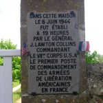 Audouville-la-Hubert, plaque PC General Collins