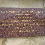 Baron-sur-Odon, plaque General MacKintosh Walker