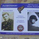 Saint-Germain-de-Varreville, plaque Pathfinders 502nd PIR