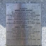 Colleville-sur-Mer, plaque Private Manuel Martinez