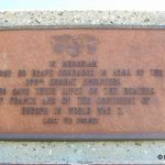 Colleville-sur-Mer, plaque 299th Combat Engineers