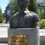 Avranches, buste General George Patton