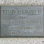 Avranches, plaque Time Capsule 1994